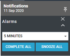 Maximizer CRM snooze alarm notifications