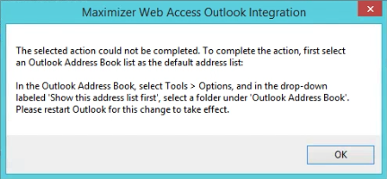 Maximizer CRM Outlook Integration