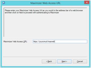 Maximizer web access URL
