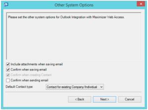 Outlook integration setup