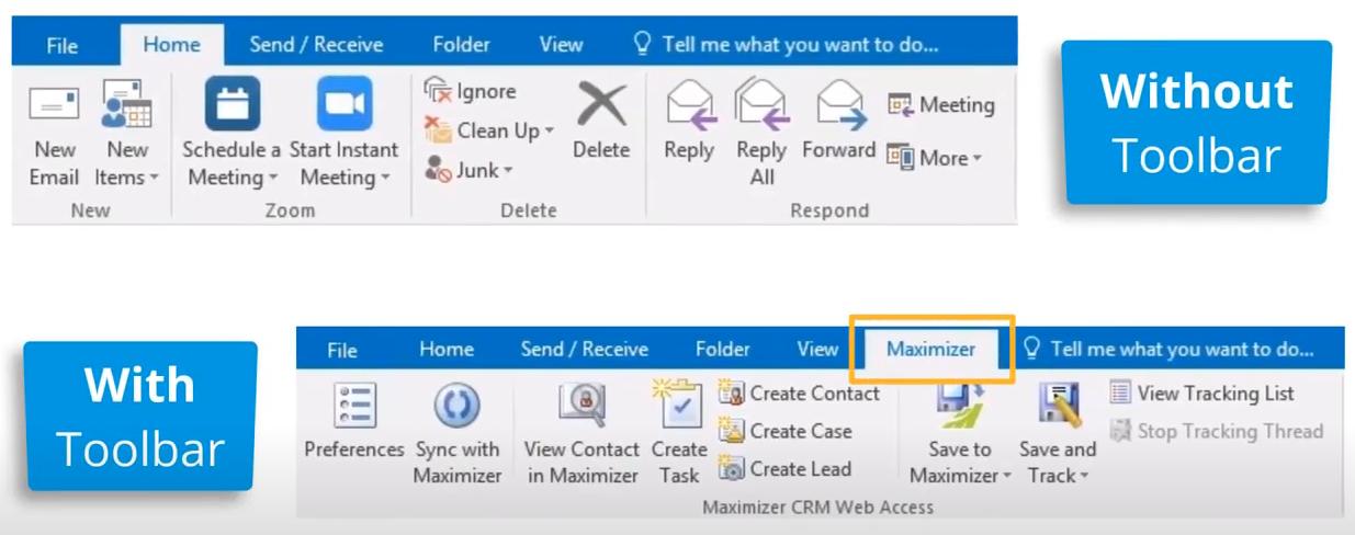 Outlook Toolbar is missing