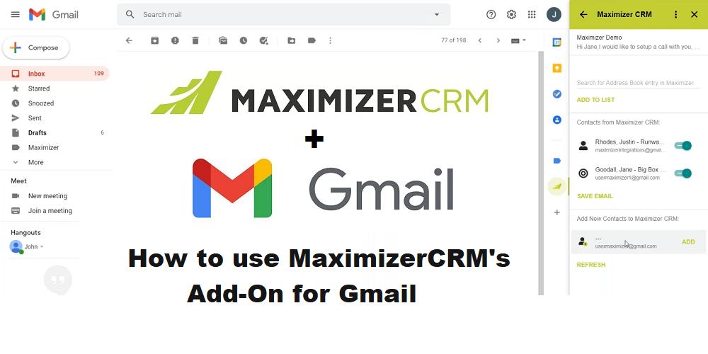 MaximizerCRM Gmail Integration - Avrion