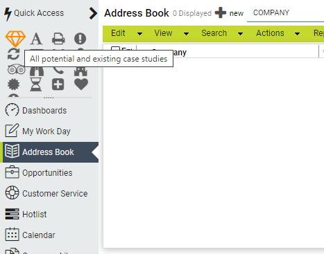 Maximizer CRM Quick Access Toolbar 02