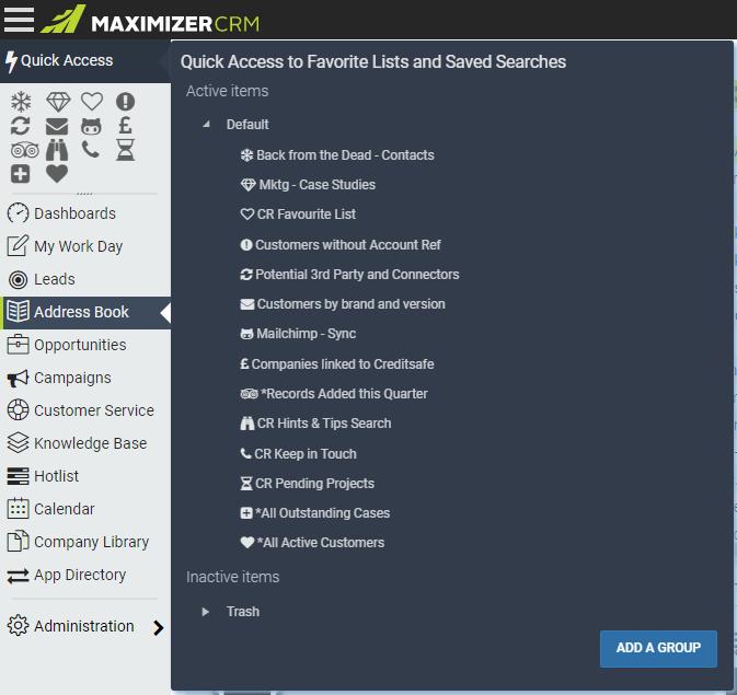 customise maximizer quick access toolbar