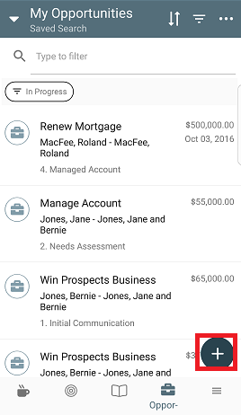 install maximizer crm mobile app - sales opportunities